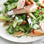 gerookte forel salade